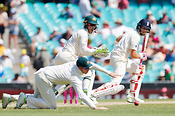 England's Joe Root gets an edge past Steve Smith during day four of the Ashes Test match at Sydney Cricket Ground.