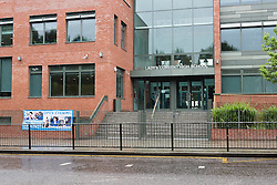 """© Licensed to London News Pictures. 12/08/2015. London, UK. A general view of the London Catholic school, Our Lady's Convent High School in Stamford Hill in London. Jedidiah Pabifio, a former science teacher at the school, who asked a teenage girl to translate the phrase """"Will you have sex with me?"""" into Spanish has been banned from teaching indefinitely by the National College for Teaching and Leadership standards panel. Image date: 24/07/15. Photo credit : Vickie Flores/LNP"""