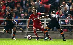 Gustav Engvall of Bristol City goes past Michael Dawson of Hull City - Mandatory by-line: Robbie Stephenson/JMP - 25/10/2016 - FOOTBALL - Ashton Gate - Bristol, England - Bristol City v Hull City - EFL Cup