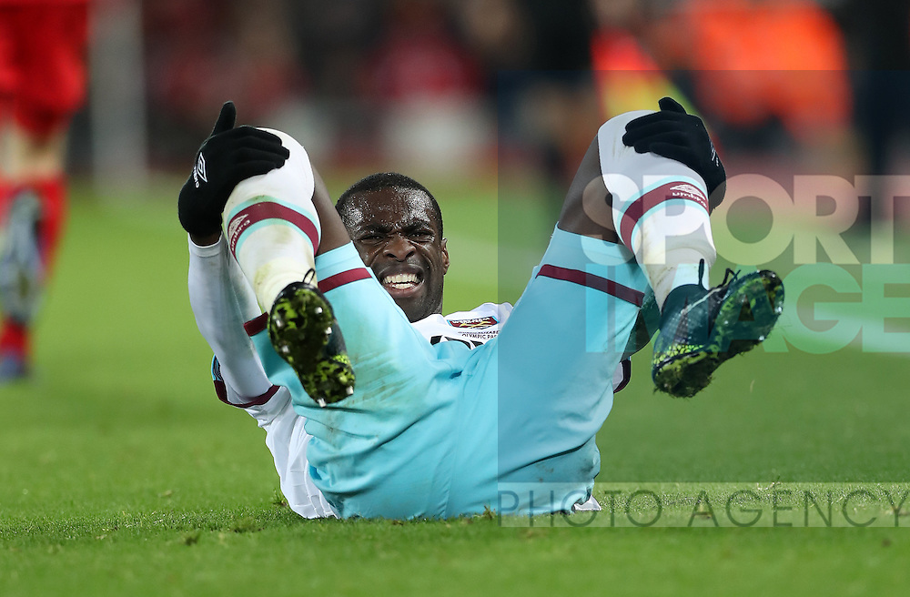 Pedro Obiang of West Ham United during the Premier League match at Anfield Stadium, Liverpool. Picture date: December 11th, 2016.Photo credit should read: Lynne Cameron/Sportimage