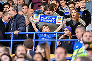 Young portsmouth fan play up pompey during the EFL Sky Bet League 2 match between Portsmouth and Cambridge United at Fratton Park, Portsmouth, England on 22 April 2017. Photo by Adam Rivers.