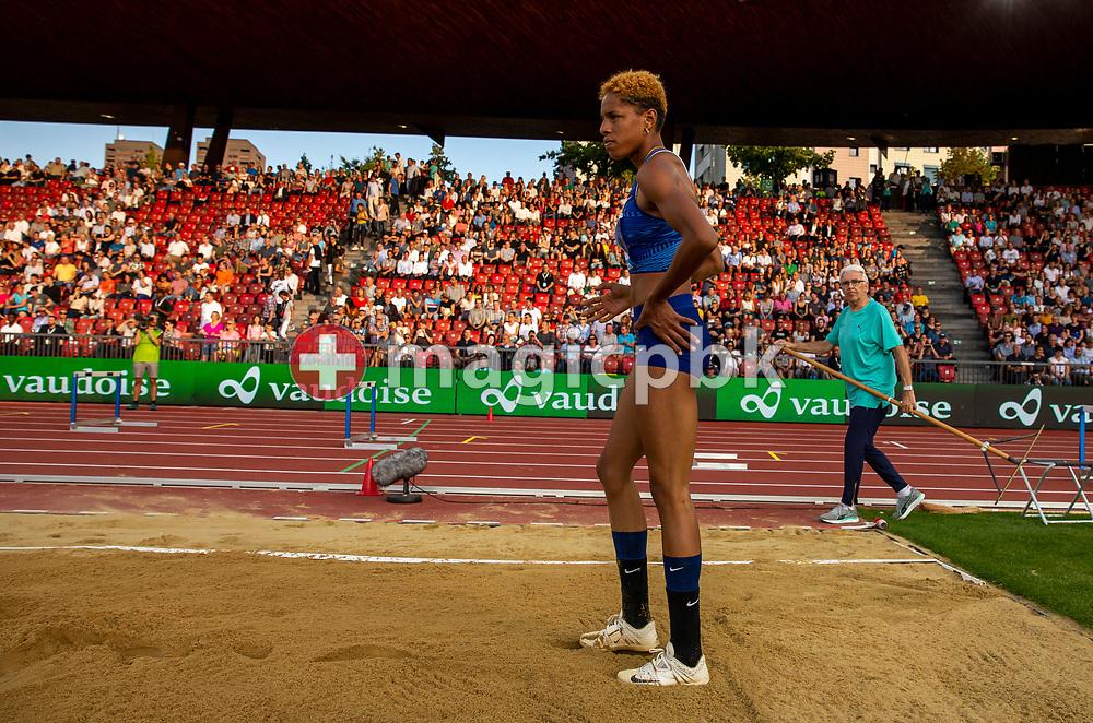 Yulimar ROJAS of Venezuela competes in the Women's Triple Jump during the Iaaf Diamond League meeting (Weltklasse Zuerich) at the Letzigrund Stadium in Zurich, Switzerland, Thursday, Aug. 29, 2019. (Photo by Patrick B. Kraemer / MAGICPBK)