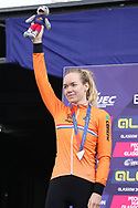 Podium, Anna Van der Breggen (Netherlands) silver medal Women time trial, during the Road Cycling European Championships Glasgow 2018, in Glasgow City Centre and metropolitan areas Great Britain, Day 7, on August 8, 2018 - Photo Laurent Lairys / ProSportsImages / DPPI