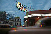 The famous daiquiri bar 'La Floridity' popularized by writer Ernest Hemingway, at sunset in Havana, Cuba.<br /> <br /> El famoso bar Floridita, en La Habana Vieja, al atardecer.