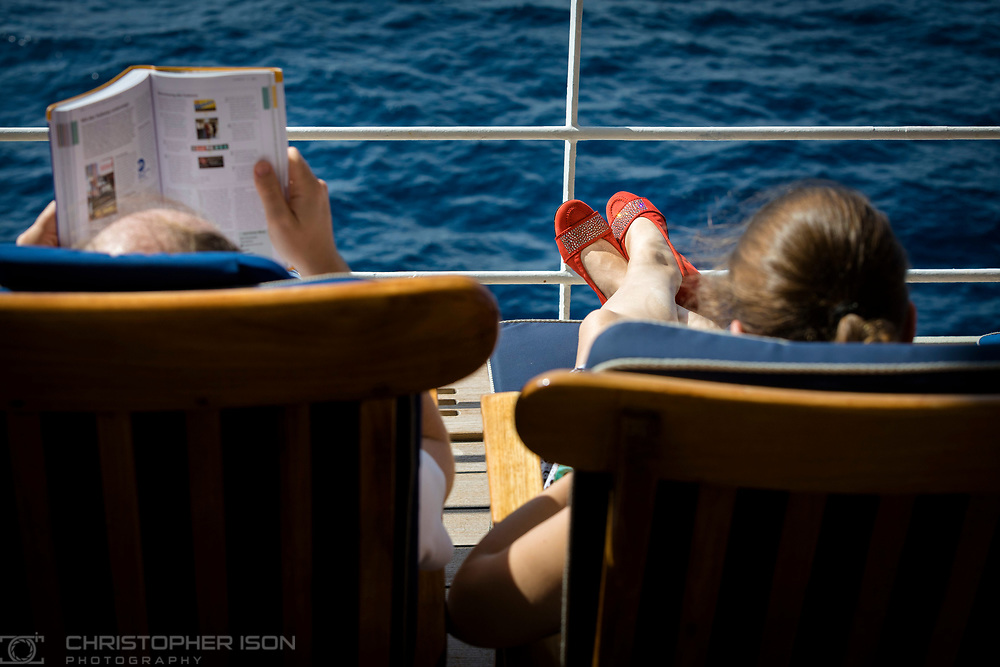 On board Cunard's luxury ocean liner Queen Mary 2 during the Transatlantic Fashion Week. 2017.<br /> Date: Tuesday September 5; 2017.<br /> For the second year running, the Transatlantic Fashion Week brought together some of the most reputable names within the fashion industry to host seven days of runway shows, inspiring talks, glamorous dinners and exclusive unveilings. The ship's arrival into New York coincided with the start of New York Fashion Week 2017.<br /> <br /> Photograph by Christopher Ison © for Cunard.<br /> 07544044177<br /> chris@christopherison.com<br /> www.christopherison.com