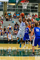 28 June 2014: Travon Smith 2014 Boys Illinois Basketball Coaches Association All Start game at the Shirk Center in Bloomington IL