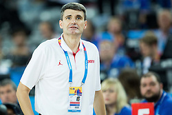 Velimir Perasovic, head coach of Croatia during basketball match between Croatia and Slovenia at Day 1 in Group C of FIBA Europe Eurobasket 2015, on September 5, 2015, in Arena Zagreb, Croatia. Photo by Vid Ponikvar / Sportida