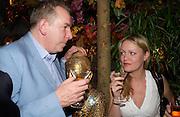 Michael Howells and Natasha Garnett. Matthew Williamson perfume launch. Fifth Floor, Harvey Nichols. ONE TIME USE ONLY - DO NOT ARCHIVE  © Copyright Photograph by Dafydd Jones 66 Stockwell Park Rd. London SW9 0DA Tel 020 7733 0108 www.dafjones.com
