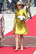 Staatsbezoek aan Luxemburg dag 1 / State visit to Luxembourg day 1<br /> <br /> Op de foto / On the photo: Welkomstceremonie bij het Palais Grand-Ducal met koningin Maxima  / Welcome ceremony at the Palais Grand-Ducal with Queen Maxima