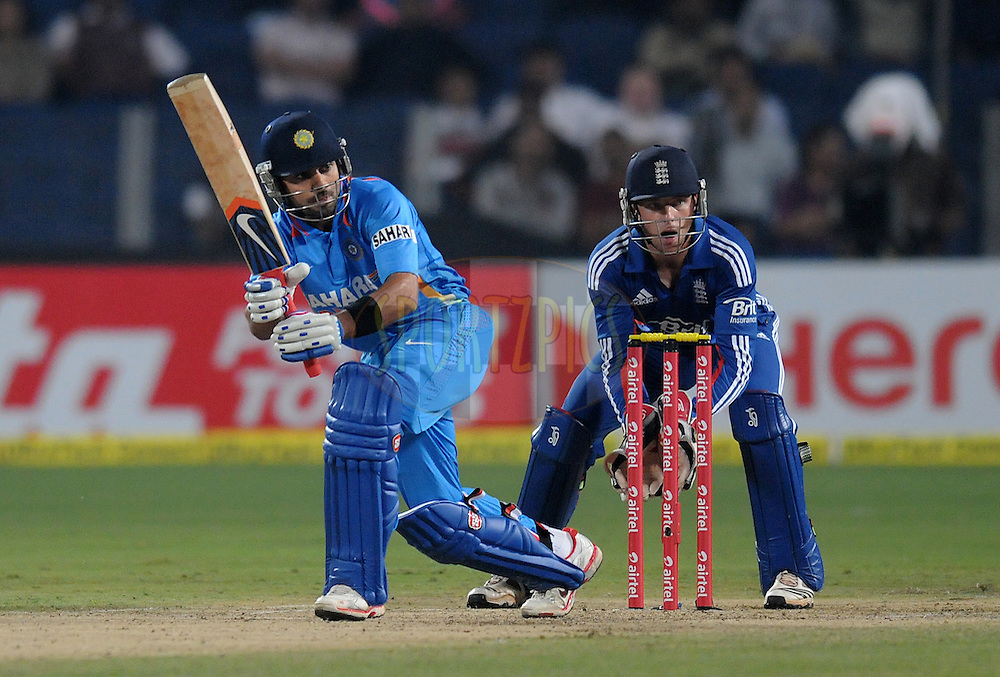 Virat Kohli of India bats during the first Airtel T20 Match between India and England held at Subrata Roy Sahara stadium in Pune on the  20th December 2012..Photo by  Pal Pillai/BCCI/SPORTZPICS .