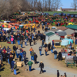 Gordonville, PA, USA - March 10, 2012: Thousands attend the public mud sale to benefit the Gordonville Volunteer Fire Company in Lancaster County, PA.