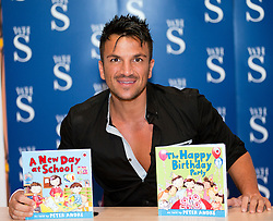 "Peter Andre Signs copies of his new childrens books ""The Happy Birthday Party"" and ""A New Day at School"" in WH Smiths Sheffield on 6th September2011 Image © Paul David Drabble"