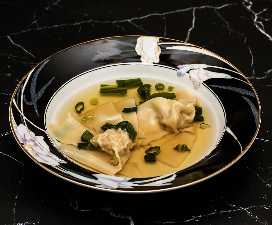 Bowl of Pork Rib Soup with Pork/Shrimp Wontons