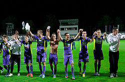 Players of Maribor celebrate after winning the football match between NK Maribor and NK Celje in final of Slovenian Cup 2013 on May 29, 2013 in Stadium Bonifika, Koper, Slovenia. Maribor defeated Celje 1-0 and became Slovenian Cup Champion 2013. (Photo By Vid Ponikvar / Sportida)