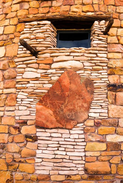 Petroglyph panel at Desert View Watchtower, Grand Canyon National Park, Arizona USA