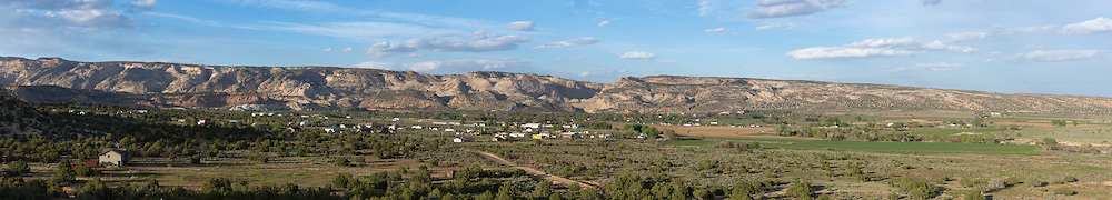 Panorama of the town of Escalante, Utah.