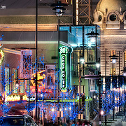 The Power and Light District in Kansas City, Missouri