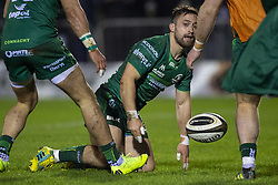 March 22, 2019 - Ireland - Caolin Blade of Connacht scores a try during the Guinness PRO14 match between Connacht Rugby and Benetton Rugby at the Sportsground in Galway, Ireland on March 22, 2019  (Credit Image: © Andrew Surma/NurPhoto via ZUMA Press)
