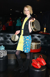 Model JADE PARFITT at a preview of Lulu Guinness's new Handbag Collection ' Couture' held at Aviva, Baglioni Hotel, 60 Hyde Park Gate, London SW7 on 15th February 2006.<br /><br />NON EXCLUSIVE - WORLD RIGHTS
