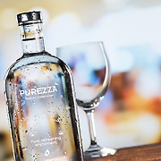 Purezza Premium Chilled Water product photographed in then Hype photography studio