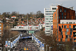 General View of Chelsea and Tottenham Hotspur supporters arriving at the stadium - Photo mandatory by-line: Rogan Thomson/JMP - 07966 386802 - 01/03/2015 - SPORT - FOOTBALL - London, England - Wembley Stadium - Chelsea v Tottenham Hotspur - Capital One Cup Final.
