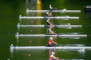 Lucerne, SWITZERLAND, Saturday , 28/05/2016 , 2016 FISA WCII,  Lake Rottsee,  Start Semi A/B,  Final Women's Lightweight Single Scull,  NZL LW1X Zoe McBride, AUS LW1X Sarah Pound, CAN LW1X Katherine Haber,  POL1 LW1X Joanna Dorociak, BRA LW1X Fabiana Beltrame, NED2 LW1X Mirte Kraaijkamp,  [Mandatory Credit; Peter SPURRIER/Intersport-images]