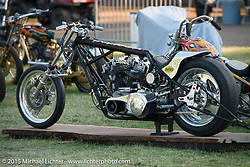 Invited builder Jason Phares's (The Gasbox) custom Harley-Davidson Knucklehead on day one of the Born Free Vintage Chopper and Classic Motorcycle Show at the Oak Canyon Ranch in Silverado, CA. USA. Saturday, June 28, 2014.  Photography ©2014 Michael Lichter.