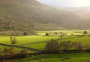 Rural farmland and countryside of Snowdonia National Park, north Wales, UK