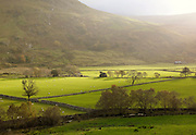 Rural farmland and countryside of Snowdonia National Park, north Wales, UK