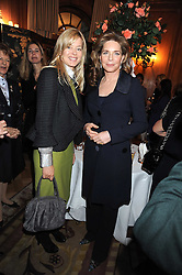Left to right, LADY HELEN TAYLOR and HM QUEEN NOOR OF JORDAN at a fashion show and lunch in aid of  AMAR International Charitable Foundation held at The Dorchester, Park Lane, London W1 on 9th October 2008.