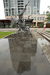 North America, United States, Washington, Bellevue, outdoor sculpture