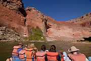 Tourists on the Grand Canyon River trip