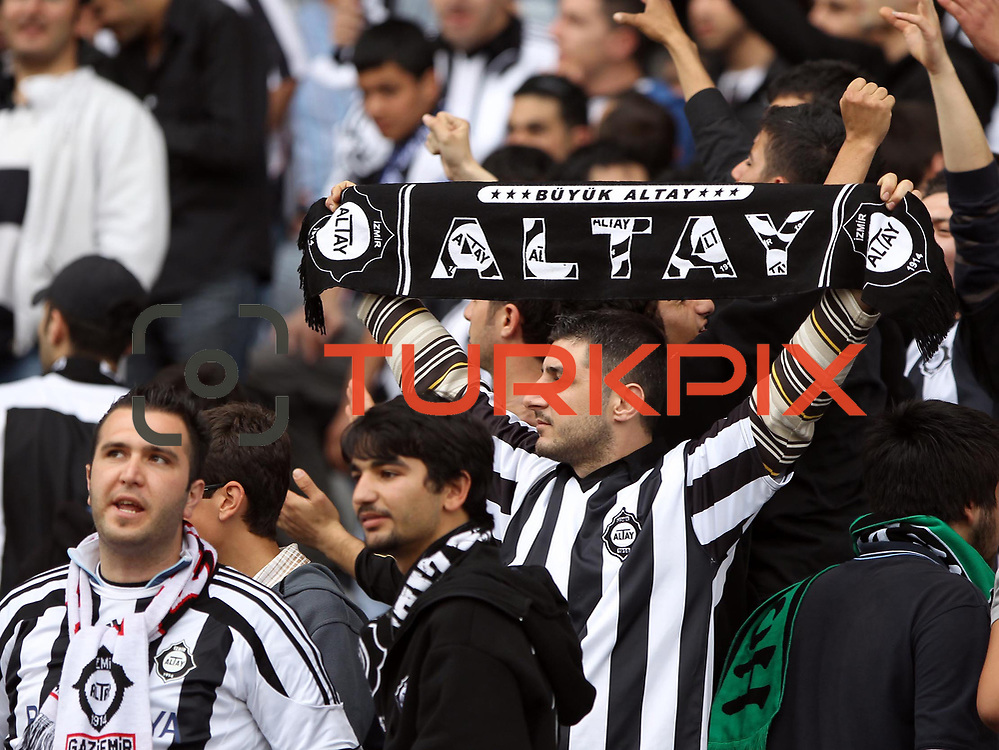 Altayspor's supporters during their Turkish soccer Play Off final match Altayspor between Konyaspor at Ataturk Olympic Stadium in Istanbul Turkey on Sunday, 23 May 2010. Photo by TURKPIX