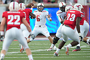 DALLAS, TX - AUGUST 30: Baker Mayfield #6 of the Texas Tech Red Raiders throws a pass against the SMU Mustangs on August 30, 2013 at Gerald J. Ford Stadium in Dallas, Texas.  (Photo by Cooper Neill/Getty Images) *** Local Caption *** Baker Mayfield