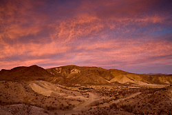Stock photo of a Chihuahua desert sunset in the Christmas mountain range, Brewster County, West Texas