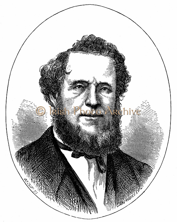 Brigham Young (1801-1877) American Mormon leader. Wood engraving published circa 1870.