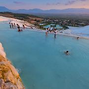 The Biggest Travertine Pool in Pamukkale, Turkey