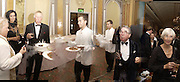 Ronnie Corbett, Lady Wilnelia ( far left)  and Sir Bruce Forsythe. Reception for Elaine Stritch at the Savoy after the first  night at the Old Vic. 9 October 2002. © Copyright Photograph by Dafydd Jones 66 Stockwell Park Rd. London SW9 0DA Tel 020 7733 0108 www.dafjones.com