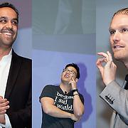 Keynote Speakers (Lto R) . Neil Pasricha, Alex Sheen, Rasmus Ankersen