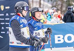 25.01.2020, Streif, Kitzbühel, AUT, FIS Weltcup Ski Alpin, im Rahmen der KitzCharityTrophy 2020 am Samstag, 25. Jänner 2020, auf der Streif in Kitzbühel. // f.l. Thomas Schmid Wolgang Berndt during the KitzCharityTrophy 2020 at the Streif in Kitzbühel, Austria on 2020/01/25, im Bild v.l. Thomas Schmid, Wolgang Berndt // f.l. Thomas Schmid Wolgang Berndt during the KitzCharityTrophy 2020 at the Streif in Kitzbühel, Austria on 2020/01/25. EXPA Pictures © 2020, PhotoCredit: EXPA/ Stefan Adelsberger