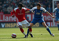 Photo: Tony Oudot.<br />Charlton Athletic v Wigan Athletic. The Barclays Premiership. 31/03/2007.<br />Alexandre Song of Charlton with Josif Skoko of Wigan