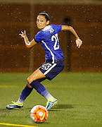 CHATTANOOGA, TN - AUGUST 19:  Forward Christen Press #23 of the United States pursues the ball during the friendly match against Costa Rica at Finley Stadium on August 19, 2015 in Chattanooga, Tennessee.  (Photo by Mike Zarrilli/Getty Images)