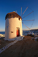 The Folklore Museum  Bonis windmill. Mykonos Upper Chora. Cyclades Islands, Greece .<br /> <br /> Visit our GREEK HISTORIC PLACES PHOTO COLLECTIONS for more photos to download or buy as wall art prints https://funkystock.photoshelter.com/gallery-collection/Pictures-Images-of-Greece-Photos-of-Greek-Historic-Landmark-Sites/C0000w6e8OkknEb8
