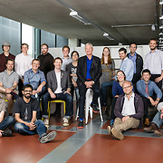 James Dyson and young entrepreneurs at the Royal College of Arts
