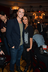 RICHARD FLEESHMAN and SHOBNA GULATU at a private performance by Frances Ruffelle entitled 'Paris Original' at The Crazy Coqs, Brasserie Zedel, 20 Sherwood Street, London on 8th October 2013.