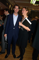 WILLIAM VAN CUTSEM and MIMA LOPES at an auction in aid of The Game Conservancy Trust held at Christie's, St.James's London on 12th December 2006.<br /><br />NON EXCLUSIVE - WORLD RIGHTS