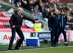 Fleetwood Town manager Uwe Rosler gestures ahead of Bristol Rovers manager Darrell Clarke - Mandatory by-line: Matt McNulty/JMP - 14/01/2017 - FOOTBALL - Highbury Stadium - Fleetwood, England - Fleetwood Town v Bristol Rovers - Sky Bet League One