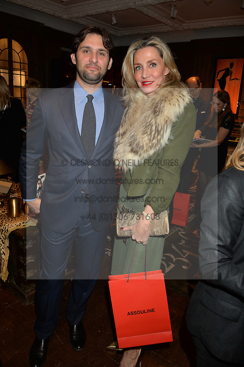 ***UK_MAGAZINES_OUT***<br /> LONDON, ENGLAND 30 NOVEMBER 2016: <br /> Left to right, Sebastian Ratto Viviani, Marie Mahti at the launch of In The Spirit of Gstaad at Maison Assouline, Piccadilly, London hosted by Mandolyna Theodoracopulos and Homera Sahni England. 30 November 2016.