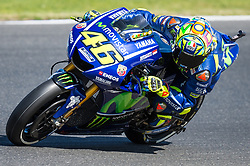 October 20, 2017 - Melbourne, Victoria, Australia - Italian rider Valentino Rossi (#46) of Movistar Yamaha MotoGP in action during the second free practice session at the 2017 Australian MotoGP at Phillip Island, Australia. (Credit Image: © Theo Karanikos via ZUMA Wire)