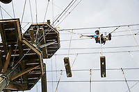 Monkey Trunks aerial tree top course Weirs Beach, NH.  Karen Bobotas for the Laconia Daily Sun